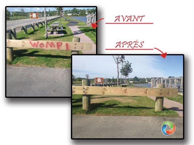 remove-graffiti-wood-Bathurst-New-Brunswick-French